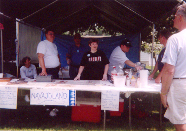 Members from the Church help at the Internation Festival 2005